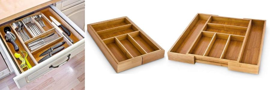 cubertero ikea, separador cubierto, cuberteros para cajones a medida, cubertero de madera bambú