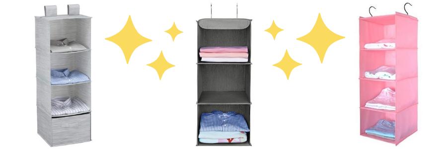Tienda online de organizador de tela colgante, organizador closet colgante, organizador de tela colgante ikea, estantes de tela para armarios, estantes de ropa para el perchero